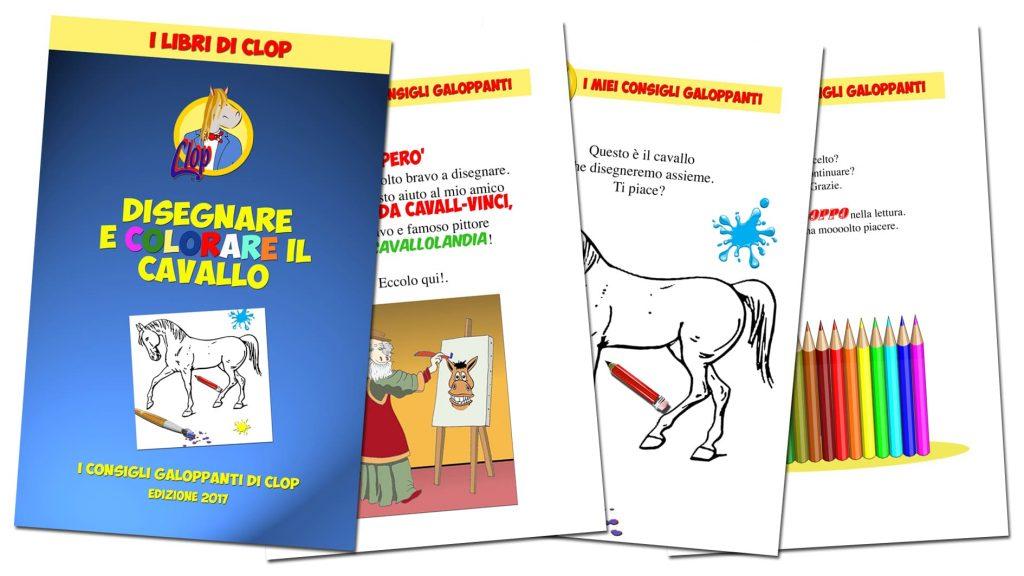 Uno dei 5 libri per chi ama i cavalli. Disegnare e colorare il cavallo