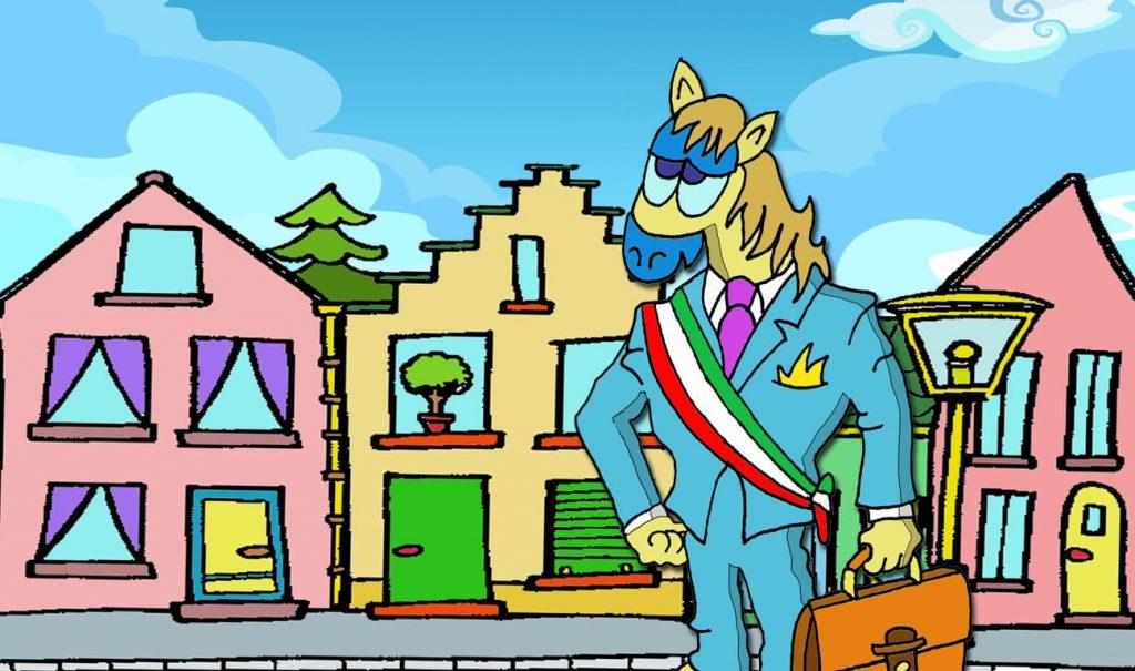 il sindaco di Cavallolandia Tom Capezza